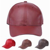 Wholesale Women Men PU Leather Baseball Caps Outdoor Casual Sports Hats Winter Windproof Caps Style Choose EOZ