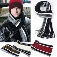 Wholesale Men s Winter Autumn Classical Artificial wool Scarf Tassels Scarf Long Pashmina Shawl