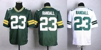 packer jersey - 2015 New Draft Men s Packers Randall Elite Football Jersey Athletic Outdoor Apparel Embroidery Name and Logo Allow Mix Order