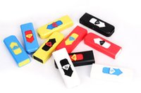 Wholesale Color USB Lighter Rechargeable Flameless Electronic eCig Cigarette Lighters Rechargeable Cigarette Flameless Lighter Windproof