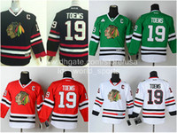 chicago - Cheap Youth Chicago Jonathan Toews Black Red White Green Kids C Patch Blackhawks Nhl Ice Hockey Boys Stitched Jerseys