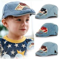 accessories fashion jeans - 2015 Kids cap Peaked Jeans caps Beret cap boys hat Fashion Korean babys Accessories D032501