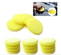 Wholesale 120 Yellow Waxing Buffing Sponge Pads For Clean Car Auto Home Glass Polish