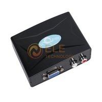 Wholesale VGA R L Audio to HDTV HDMI p AV Converter Adapter Black Color
