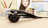 Wholesale 2014 New Automatic LCD Hair Curler Pro Perfect Curl Hair Roller Styler Curling Styling Tools Brushless Motor