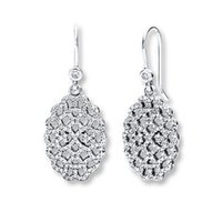 chandelier price - Price Full Catalogue New Arrival Sterling Silver chandelier earrings with Clear Cz CE568