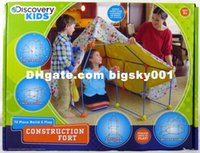 Wholesale Shipping Free Discovery Kids Build and Play Construction Fort Children Play Tent