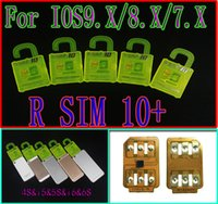 Wholesale NEW VERSION R SIM RSIM Rsim10 unlock for iphone s s s ios9 ios9 CDMA SB AU SPRINT G G add Rpatch carrier