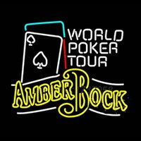 amber nugget - 825 Amber Bock World Poker Tour Neon Sign Avize Lamp Dallas Nets Jersey Real GlassTube Handicraft Sign Gifts