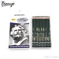Wholesale Bianyo12 Pieces Box H B Pencil Drawing Set Different Lead Hardness Sketching Pencil Set School Sketching Pencil A5
