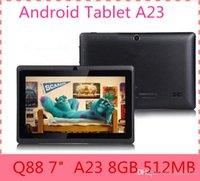 Wholesale Ship From USA Q88 quot Android Tablet A23 Dual Core Tablet PC GB MB Capacitive WIFI Dual Camera inch Tablets PC