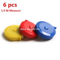 Wholesale 6 M Colorful Retractable Flexible Body Metric Markings Ruler Tape Measure Sewing Cloth Metric Retract Ruler order lt no track