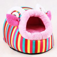 Wholesale creative dog bed mats pet house cute pet kennel for small dogs or cats