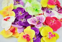 dried flowers - cm big size artificial silk butterfly orchid flowers heads For DIY headwear