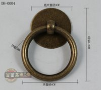 40mm chinese furniture antique - 40mm Chinese antique furniture drawer handles small pure copper doors classic Round rings Handle and distribution screws