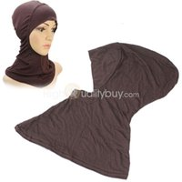 Wholesale 1X Women Hijab Cap Hat Under Scarf Head Wear Band Neck Chest Cover Coffee New