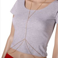 Belly Chains belly chains wholesale - 2016 New arrival sexy summer beach bikini accessories cross necklace body chain link waist belly chain women Nickle free plating