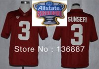 alabama state football - Factory Outlet All State Sugar Bowl Game Jersey Alabama Crimson Tide Vinnie Sunseri Embroidery logos NCAA College Football Jerseys