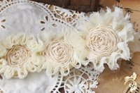 Wholesale quot Frayed Chiffon Rose Trim shabby Chiffon Flowers Hair Accessories Shabby Flower Trim Chiffon Trim yards