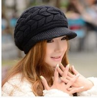 Wholesale Autumn winter hat women Korean fashion wool cap knitted hat rabbit fur hat warm winter days women knit cap baseball cap brand