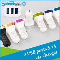 Car Chargers apples phone pads - 5V A mah usb port car charger for cellphone universal mobile phone tablet pc pad fast charging multi function charger
