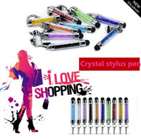 For Capacitive Screens android tablet pen - Crystal Stylus pen mini Touch Screen Pen For Iphone Ipad Samsung galaxy note Android cellphone Tablet DHL free