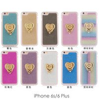 apple iphone ring - 2015 Iridescence Dull Polish The Ring Holder Back Case Soft TPU case for iphone S S Plus Phone Case Cover