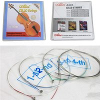 Wholesale Musical Stringed Instruments Cello Accessories A803 Steel Core Nickel Silver Wound Cello Strings Ball End