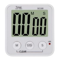 Wholesale Large LCD Digital Kitchen Cooking Count Down Timer Alarm Clock New and White