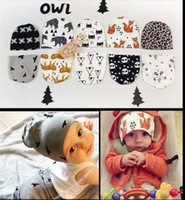 animal hat fox - NEW Baby Beanie hat toque caps Baby infant toddler hats bonnet headgear cartoon printed fox tiger Animal A8