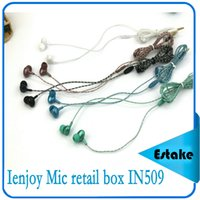 apple product lines - NIGHT LIGHT In ear Earphone Headphone NEW product Ienjoy Mic retail box serpentine line IOS Android MP3 MP4 Phone PC IN509