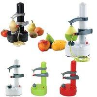 electric potato peeler - 2015 New Kitchen Tools Multifunction Stainless Steel Electric Fruit Apple Peeler Potato Peeling Machine Automatic Color