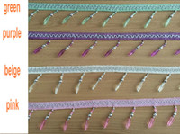 Wholesale Curtain Lace Accessories Tassel Fringe Trim DIY Love Beads crystal bead Braide Drapery Sewing Textile Decoration