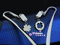 Cheap Free shipping New Four leaf clover ect 12 designs metal bookmark lovers wholesale party wedding supplier