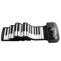 Wholesale Chrismas gift PA88 Key MIDI Flexible Keys MIDI Tones Electronic Roll Up Folding Piano Built in Speaker with Battery MIA_673