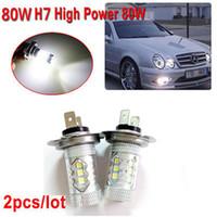 Wholesale 1 Pair H7 W Osram Led Super Bright White Fog Lamp Bulbs Car Light Sources V