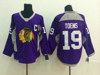 athletic wear brands - New Arrival Purple Blackhawks Jonathan Toews Hockey Jerseys Ice Hockey Wears Brand Team Uniforms Fashion Practice Athletic Hockey Shirts