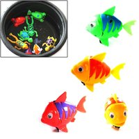 Cheap Cute Funny Wind-Up Clockwork Bath Toys Animals Frog Fish Baby Shower Swimming Pool For Baby Kids Gift Randomly