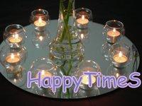 Wholesale Beatiful Wedding Decoration cm Diameters Round Mirror Plate For Table Decoration Center Piece