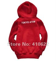 atom girl - Retail New arrival baby gril ATOM clothing set children s cloth boy girls red Hoodie for autumn and winter