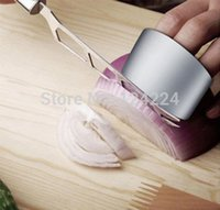 Wholesale Stainless Steel Finger Hand Protector Guard Chop Safe Slice Knife Kitchen Tool