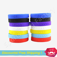Wholesale Bryant hand ring with signature sweatband Hand Ring basketball kobe Wrist band Mens Silicone bracelet bracelet