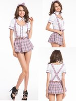 Wholesale Sexiest Outfit Japan - Free shipping Sexy Lady japan high school girl dress uniform women adult costume full outfit