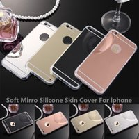 Miroir de Luxe Galvanoplastie Transparent Transparent TPU Silicone Peau Etui Housse de protection pour l'iphone 6 / 6S Plus 6 / 6S 5 / 5S Couleurs Mixtes DHL