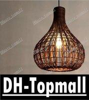 rattan - 14 quot Handmade Modern Rattan Ceiling Pendant Lamp Living Lights Fixture Chandelier light