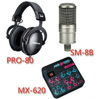 amplifiers and mixers - TAKSTAR SM B S Condenser Microphone DJ PRO Headphone MX use sound card mixer sound effects and amplifiers in one Kit