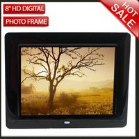 Wholesale New quot HD TFT LCD Digital Photo Movies Frame Alarm Clock MP3 MP4 Player Remote