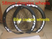 Wholesale 2016 new mold mm dimples wheels U shaped bicycle wheels mm width firecrest dimples surface bicyle wheels with ceramic bearing hubs