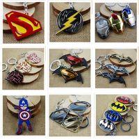 america lock - 100 Styles Newest Superhero Keychains Captain America Key Chains Zinc Alloy Flashman Christmas Gifts Key Chain DHL R820