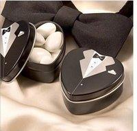 Cheap Bride groom Mint tin wedding favor box 150PCS LOT dressed to the nines wedding candy box 060505
